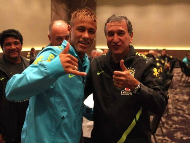 Neymar y Parreira.