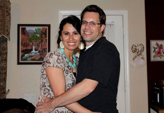 Yanira Maldonado y su marido, Gary.