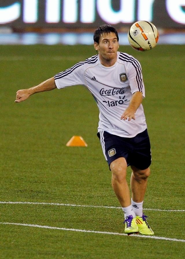 Lionel Messi se ha visto bien durante los entrenamientos de Argentina, pero no existe ninguna seguridad de que salte hoy a la cancha.