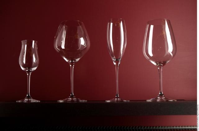 Las copas de vidrio son las más comunes.