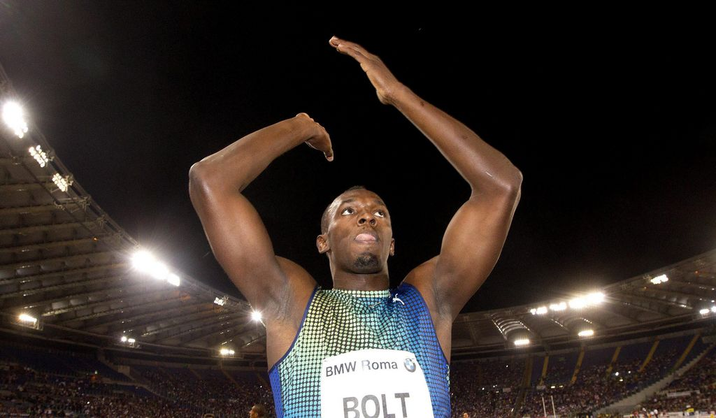 Usain Bolt tras perder frente a Justin Gatlin.