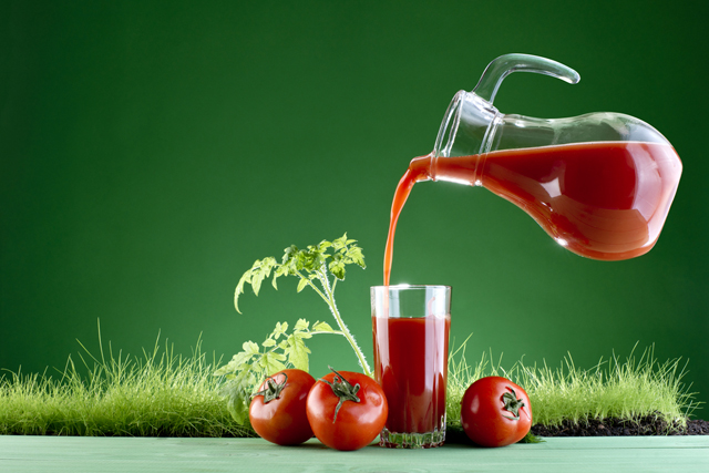 What happens in the body when taking a glass of tomato juice daily