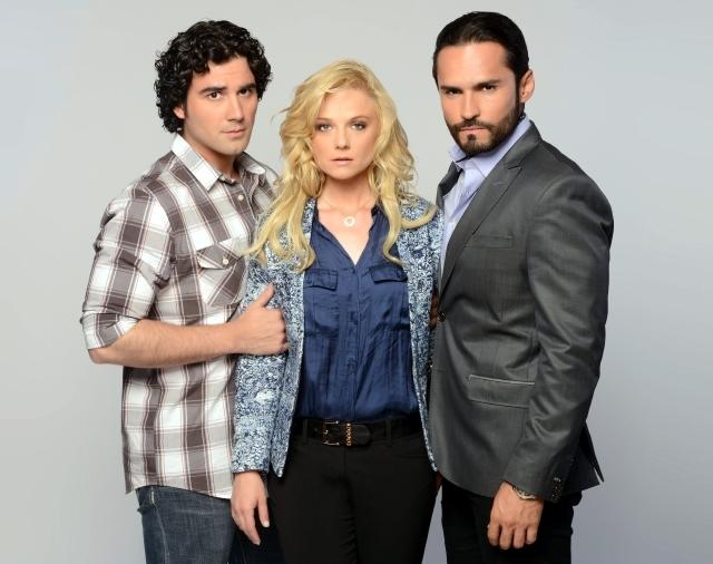 José Luis Reséndez, Ana Layevska y Fabián Ríos, las estrellas de la telenovela 'Dama y Obrero', que se estrena esta noche.