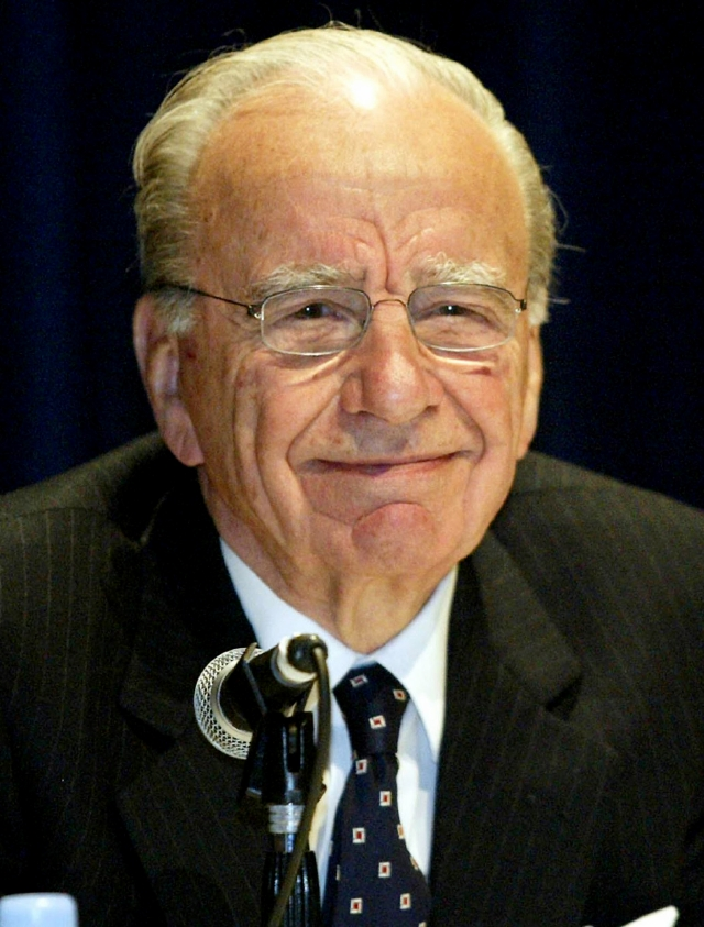 Rupert Murdoch, magnate de las comunicaciones.