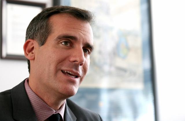 El alcalde Los Ángeles conversa con Trump