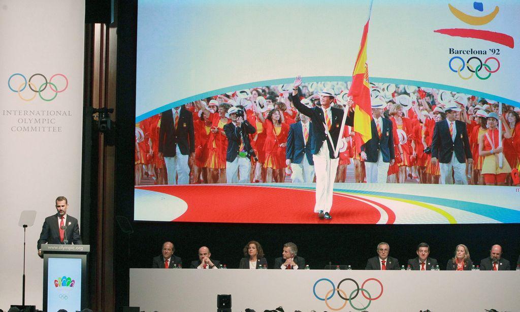 La presentación de Madrid a cargo del príncipe Felipe.