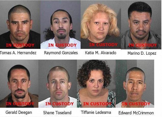 11 arrestados en robo de autos en Long Beach