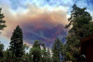 Incendio forestal  sin  control