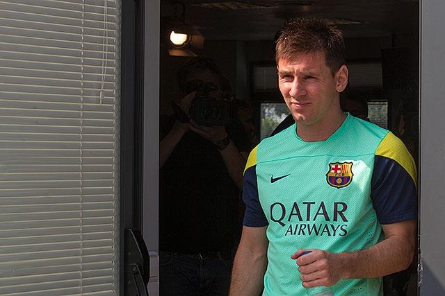 Messi celebra llegada de técnico Martino al Barcelona