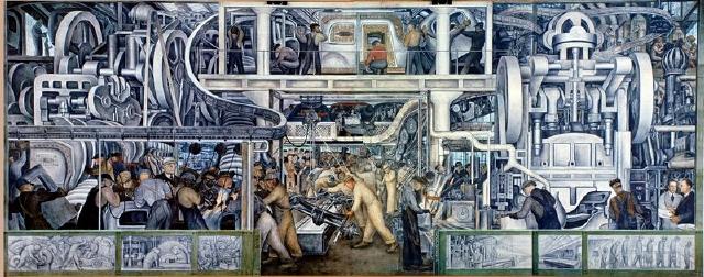 En peligro mural de Diego Rivera