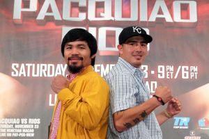 Pacquiao y Ríos cierran gira en Beverly Hills