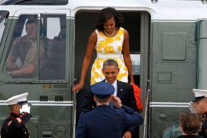 Los Obama se van de vacaciones a Martha's Vineyard