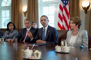 Boehner con  Obama