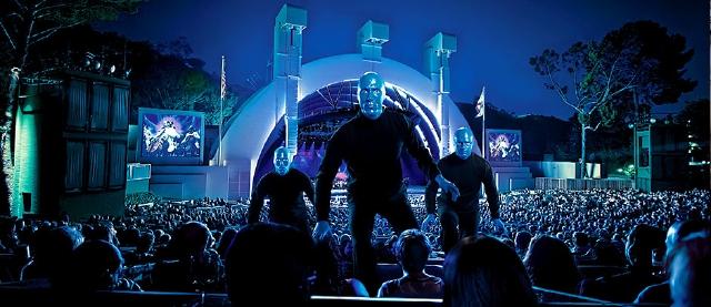Hollywood Bowl será azul gracias a Blue Man Group