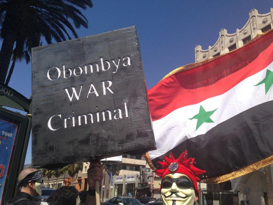 Occupy Los Ángeles protesta posible intervención a Siria