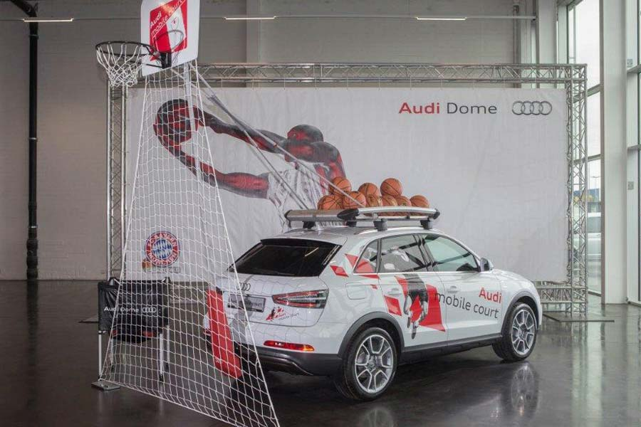 Audi Mobile Court para los tanáticos del Basketball