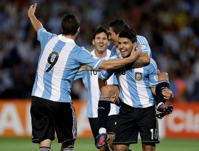 Gonzalo Higuaín (9), Leonel Messi, Angel di María y Sergio Agüero, los cuatro fantásticos.