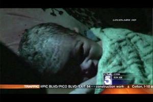 Una bebé nace en la autopista 405 en Los Ángeles (video)