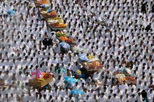 Musulmanes comienzan su peregrinación a La Meca