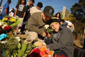 Vigilia y protesta por muerte de niño en California