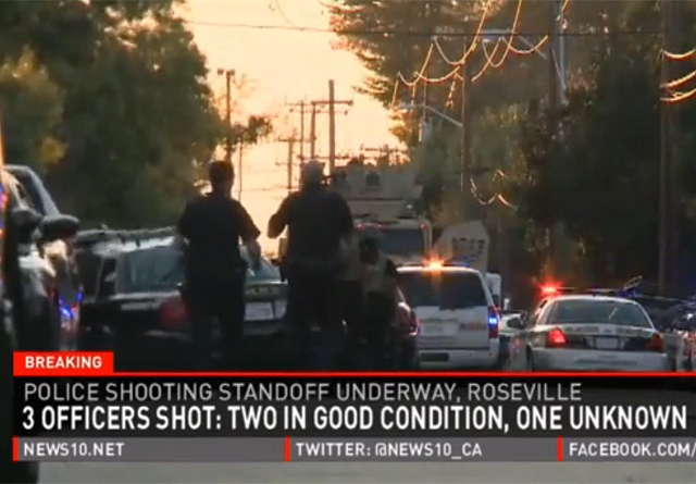 Rodean a hombre armado que hirió a 4 en Califronia