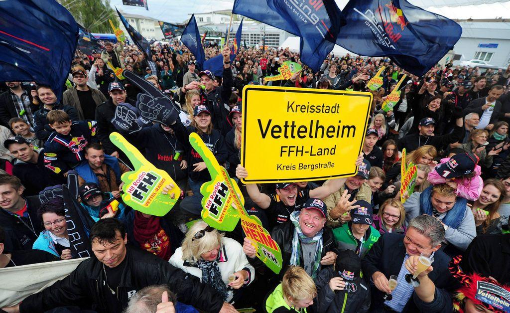 Campeonato de Vettel causa fiesta en su ciudad natal