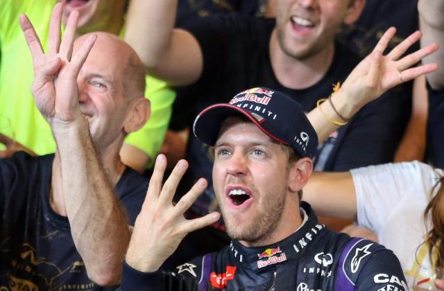 Vettel con las leyendas