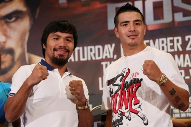 Manny Pacquiao (izquierda) y Brandon Ríos esperan por el combate que los colocará frente a frente  el 23 de noviembre.