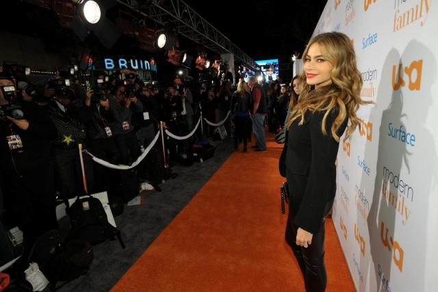 Sofía Vergara  en la alfombra roja del evento del lunes en Los Ángeles.