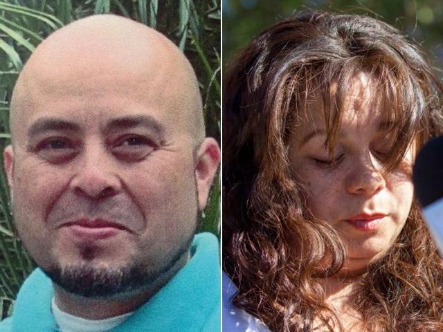Gerardo I. Hernández (i), el agente de TSA fallecido en el tiroteo de LAX y su esposa Ana Hernández.