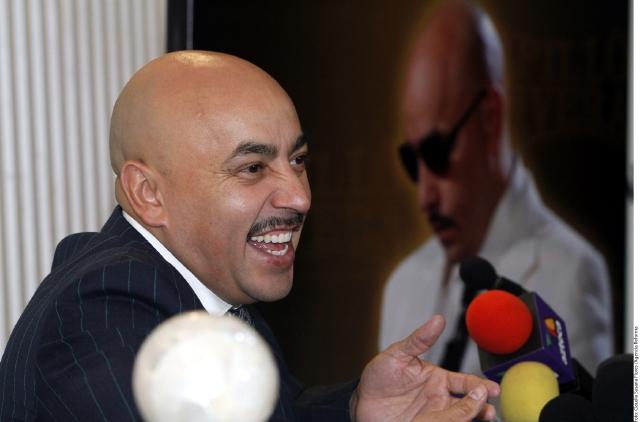 Lupillo Rivera,  el martes, en su encuentro con la prensa en Monterrey.