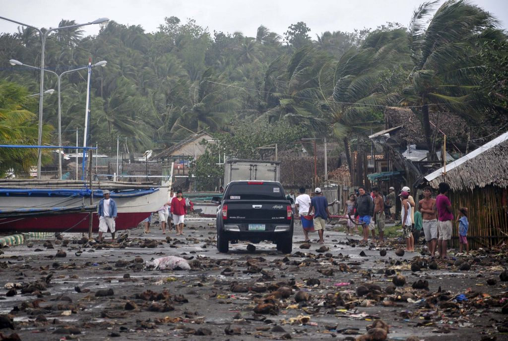 En Legazpi, Filipinas, todo luce devastado.
