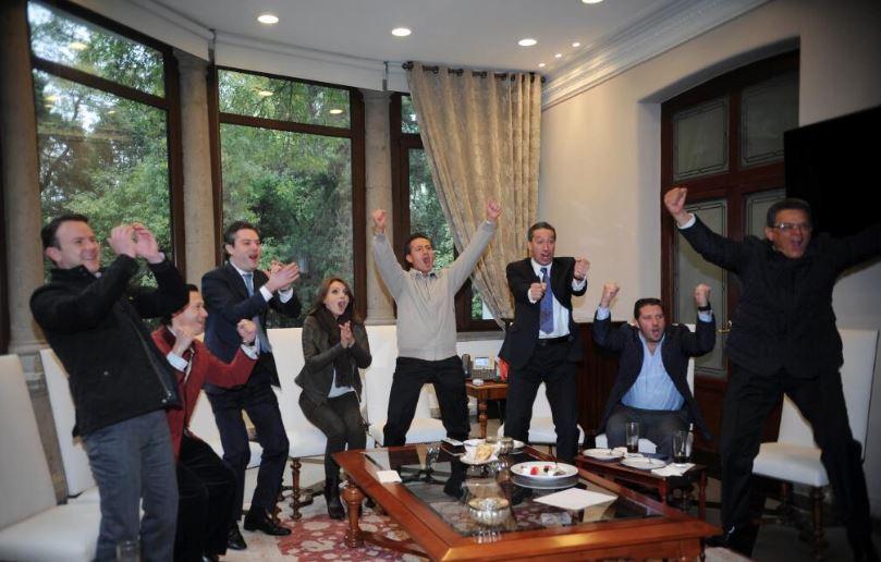 Angélica Rivera festeja triunfo de la Selección Mexicana