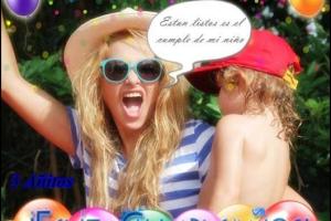Paulina Rubio celebra el tercer cumpleaños de su hijo