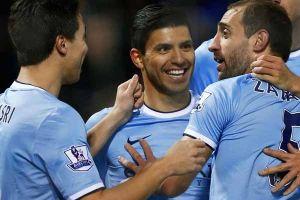A un toque: el gol de Agüero con el Manchester City (Video)