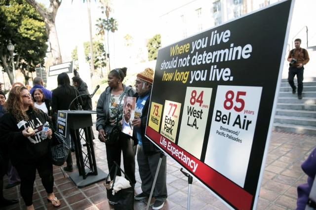 Lucha contra la disparidad de vida en LA