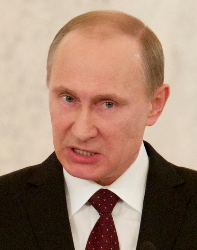 El presidente ruso Vladimir Putin, ayer.