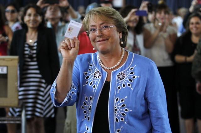 Bachelet gana las elecciones en Chile
