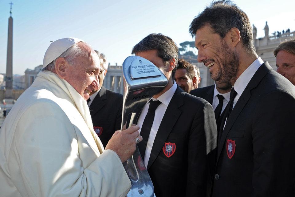 Encuentro privado entre el papa Francisco y el San Lorenzo