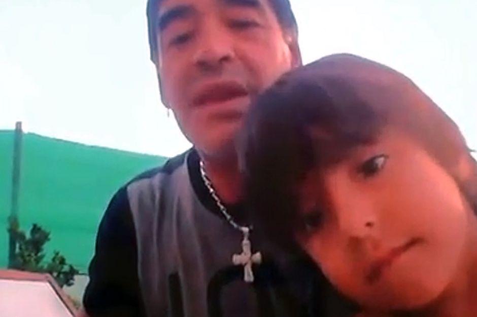 """Maradona: """"Si Benjamín juega en Independiente, me la corto"""" (Video)"""