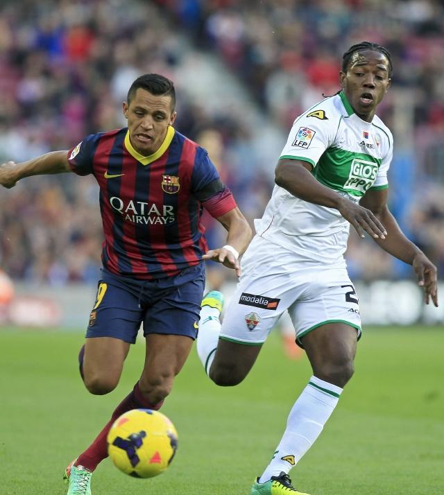 Barsa: sin Messi, pero con Alexis