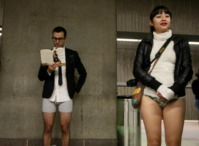 Poca ropa en el Metro