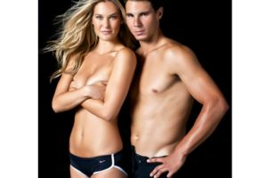 Bar Refaeli posó en topless con Rafa Nadal