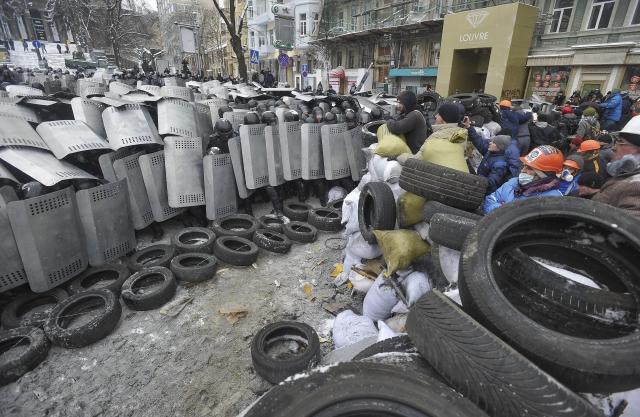Más protestas en  Kiev, Ucrania