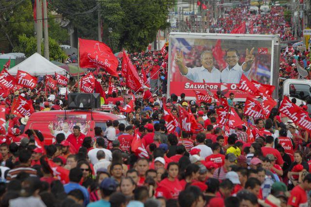 Izquierda cierra campaña electoral en El Salvador