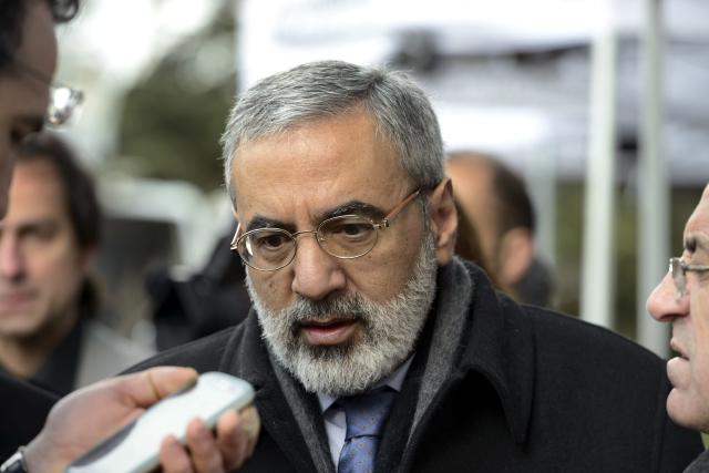 El ministro sirio de Información, Omran al Zubi, ofrece una rueda de prensa en la sede de las Naciones Unidas.