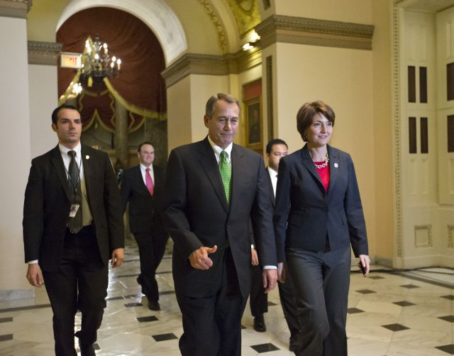 John Boehner y Cathy McMorris Rodgers llegan a la Cámara de Representantes de EE.UU.