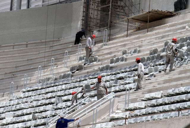 Parece que el llamado de atención de la FIFA tuvo el efecto deseado y las obras en el Estadio de Curitiba avanzan  a buen ritmo.