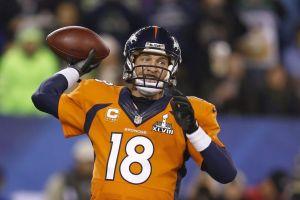Manning récord de pases completos en Super Bowl