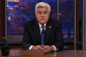 """Ahogado en llanto Jay Leno se despide de """"The Tonight Show"""""""
